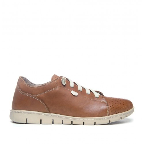 Leather shoe with...