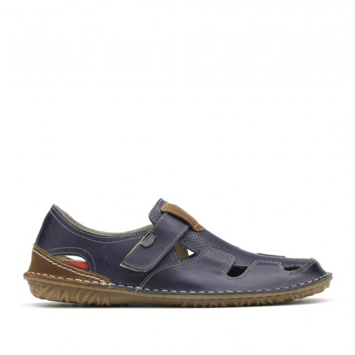 Leather loafers with...